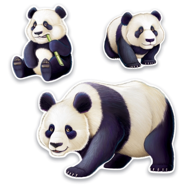 Panda Cutouts - China Deko
