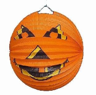 Party-Extra Papierlaterne Halloween-Kürbis, 23 cm Durchmesser