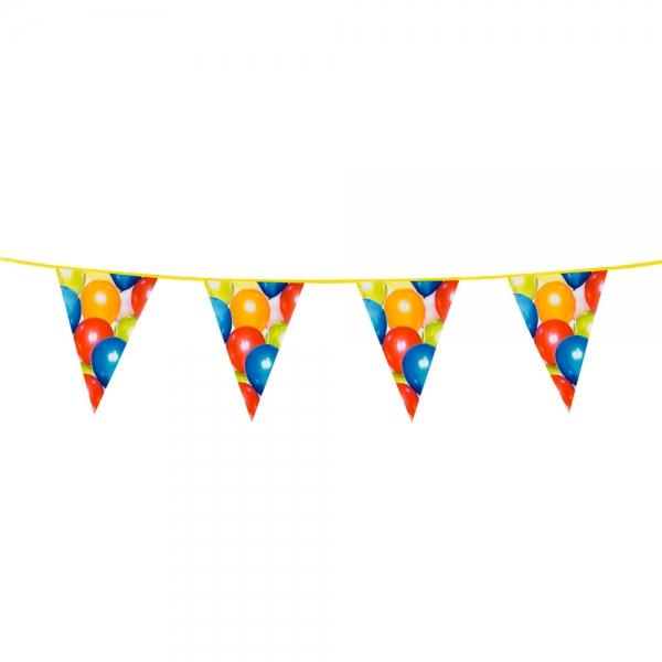 Wimpelkette Luftballons - Faschingsdeko
