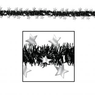 Fransengirlande Silver Starlight, 3,60 m lang