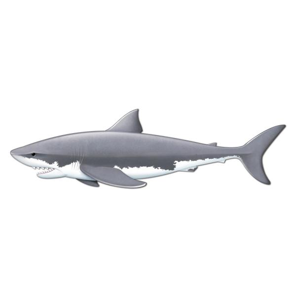 Riesen-Wanddeko Weisser Hai - Maritime Deko