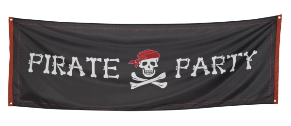 Riesen Stoff Banner Pirate Party