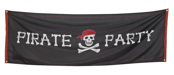 Riesen Stoff Banner Pirate Party