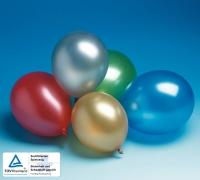 Bunte Metallic-Luftballons