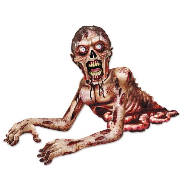 Wanddeko Kriechender Zombie - Halloween Deko