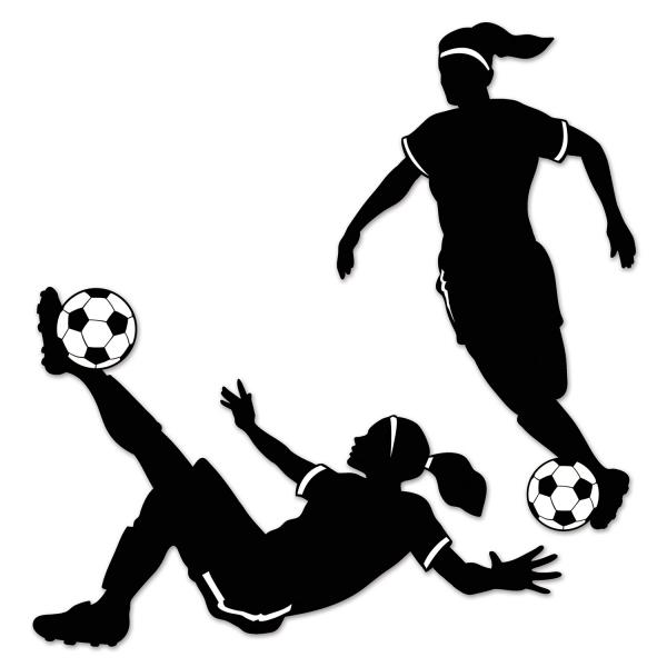 Fussballspielerinnen-Silhouetten - Frauenfussball Deko