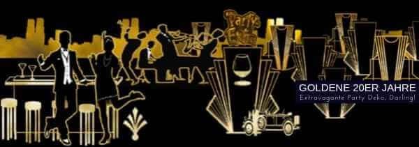 Party-Extra Goldene 20er Jahre Deko Art Deco Partydeko M