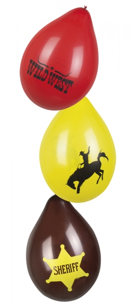 Luftballon-Set Cowboyparty - Westerndeko