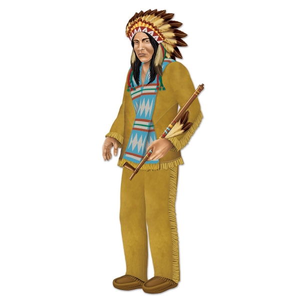 Party-Extra Cutout-Figur Indianer Häuptling, 96 cm