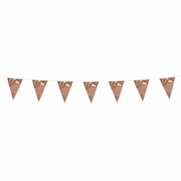 Mini-Wimpelkette Rosegold - Glamour Deko