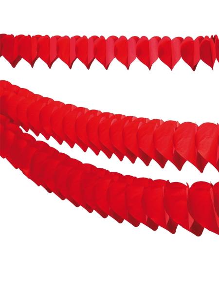 Rote Herzgirlande, 360cm Länge
