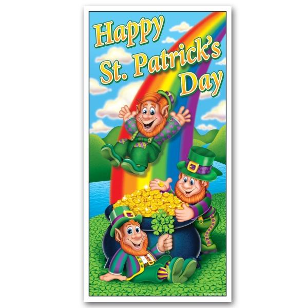 Party-Extra Tür-Dekofolie St. Patrick's Day - Irland Deko