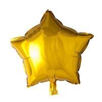 Folienballon Gold Star, 46 cm