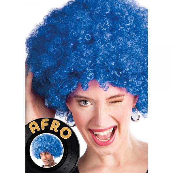 Afro Perücke Blau