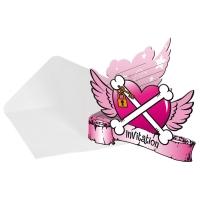 Einladungskarten Piraten-Girl, 8er Pack mit Umschlägen