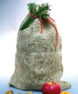 Kleiner Weihnachts-Jutesack, 35x50cm