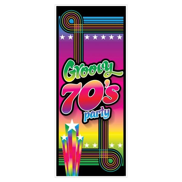 Tuer-Dekofolie Groovy 70er Jahre - Disco Deko