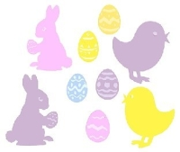 Maxi-Pack Cut-outs Frohe Ostern, 30er Pack