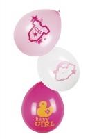 Luftballon-Set Baby Girl, 6er Pack