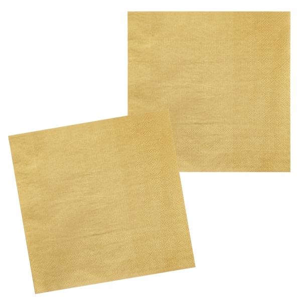 Servietten Gold/Ocker - Glamour Tischdeko