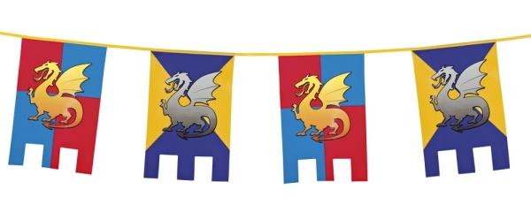 Party-Extra Flaggenkette Ritterwappen,- Mittelalter Deko
