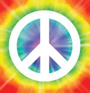 Folienaufkleber Peace - Hippie Deko