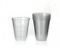 Transparente Plastikbecher,25er Pack 0,3 l