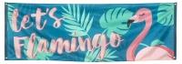 Mega-Partybanner Let's Flamingo, 74 x 220 cm