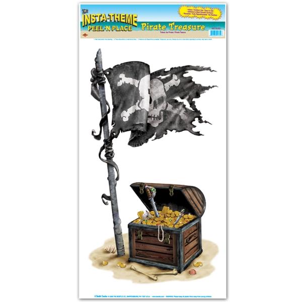 Folienaufkleber Piratenschatz, 49x27cm groß