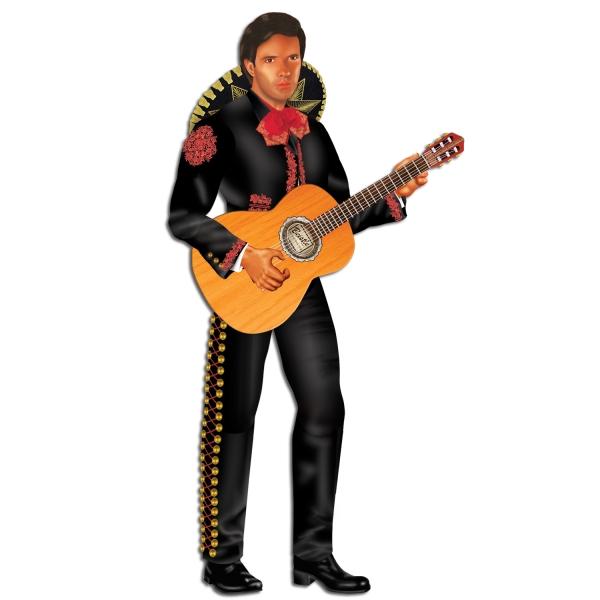 Cutout-Figur Meyikanischer Gitarrenspieler, 34 cm groß
