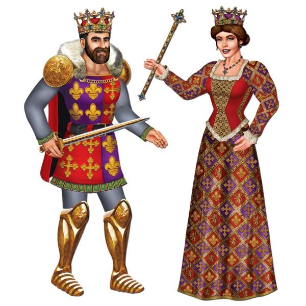 Cutout-Figuren Königspaar - Mittelalter Deko
