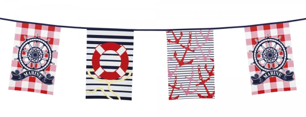 Flaggenkette Transatlantikliner - Traumschiff Deko