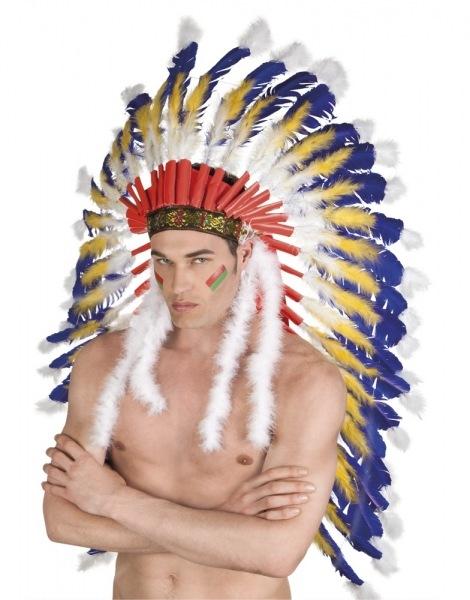 Indianer Kopfschmuck Crazy Horse - Indianerparty Zubehör