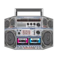 Party-Extra Riesen Pappaufsteller Ghettoblaster, 80er Jahre High-Tech