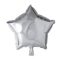 Folienballon Silver Star, 46 cm