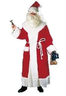 Edler Plüsch-Weihnachtsmannmantel