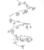 Party-Extra Mini-Drahtgirlande Schneeflocken, 270 cm