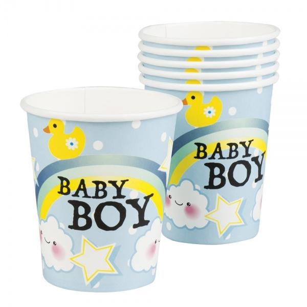 Pappbecher Baby Boy, 6er Pack