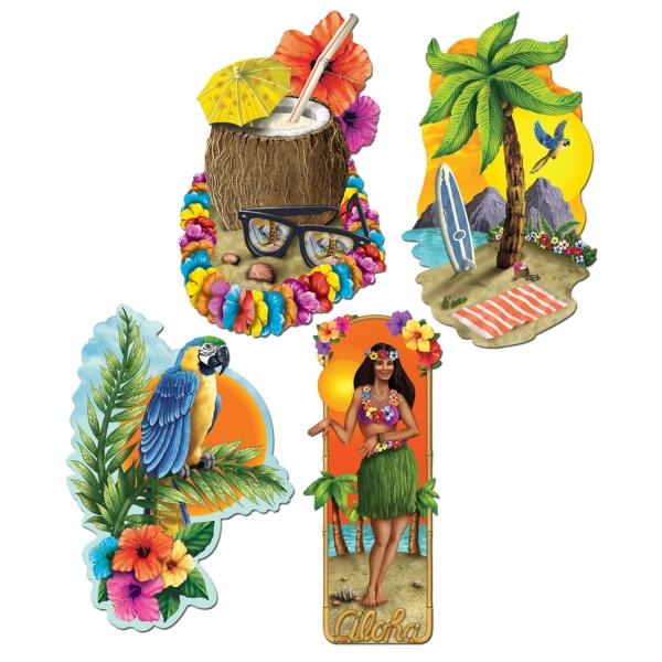 Party-Extra Cutout Set Aloha Hawaii - Beachparty Deko