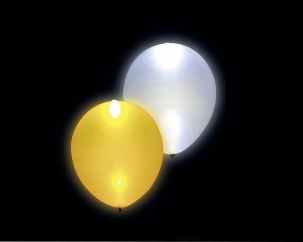 LED-Leuchtballons, Gold-Silber Metallic