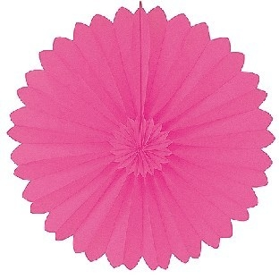 Dekofächer pink - Raumdeko aus Papier