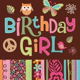 Servietten Hippie-Birthday