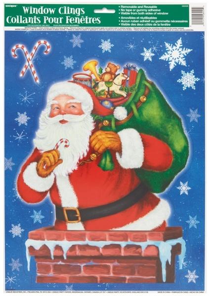 Folien-Aufkleber Weihnachtsmann 35cm