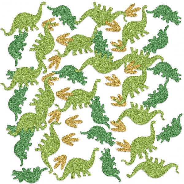 XL Glitzer-Dino Tischkonfetti - Dinosaurier Deko
