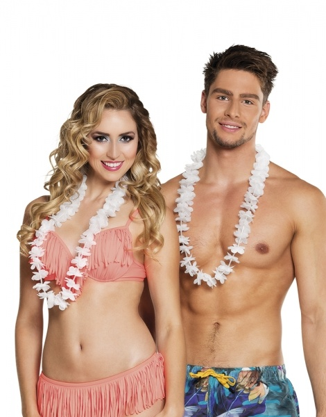 Hawaiikette weiß, 25er Pack