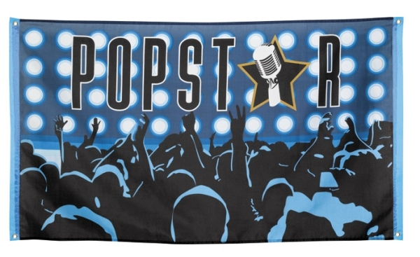 Party-Fahne Popstar, 150 x 90 cm