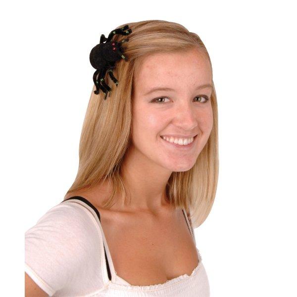 Haarspange Kleine Glitzerspinne - Gruselparty Accessoires