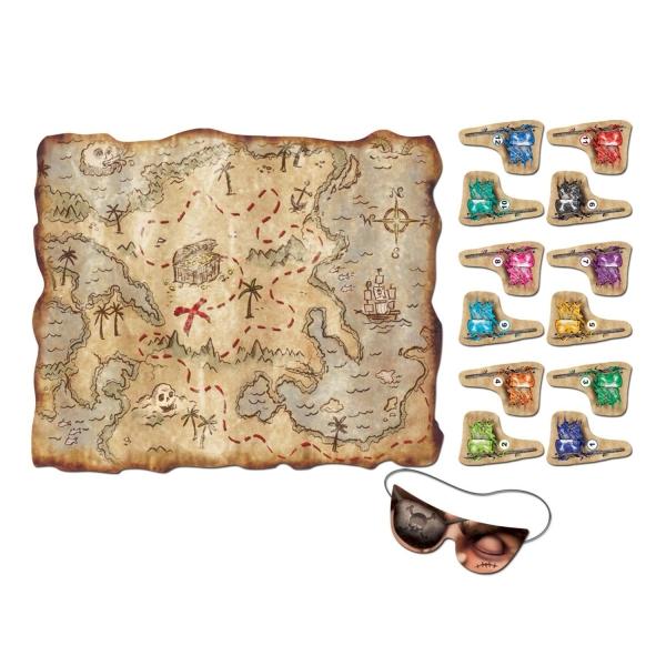 Party-Extra Piratenparty Spiel Set Schatzsuche