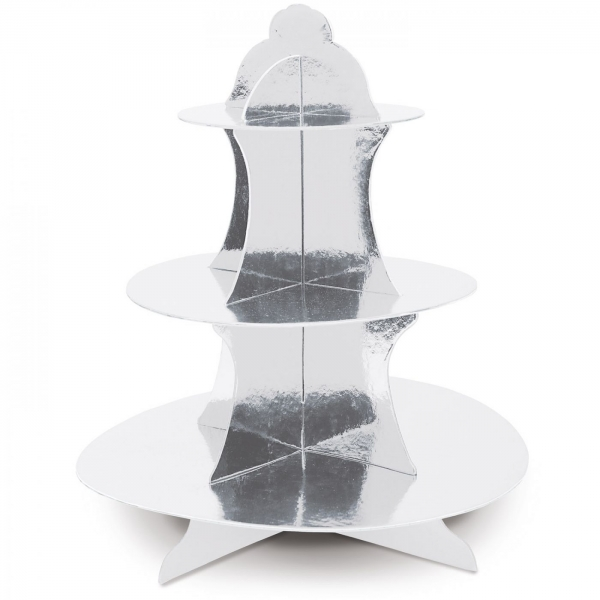 Cupcake Stand Silber, 35cm