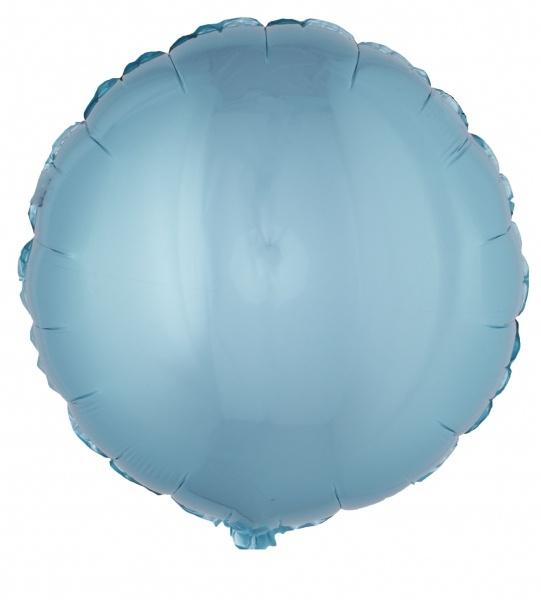 Folienballon rund, hellblau - Babyparty Deko